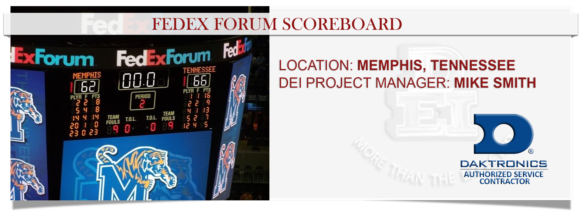 FED EX FORUM SCOREBOARD